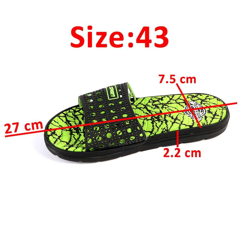 Light Rubber Sponge Shoes Green Color Size 43 متجر 15 وأقل