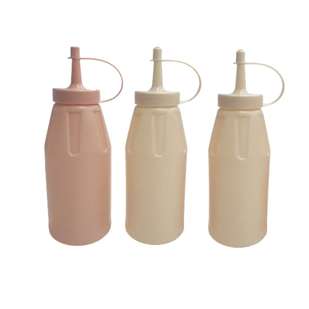 Plastic Bottle For Ketchup And Sauces 3 PCS in 300ml متجر 15 وأقل