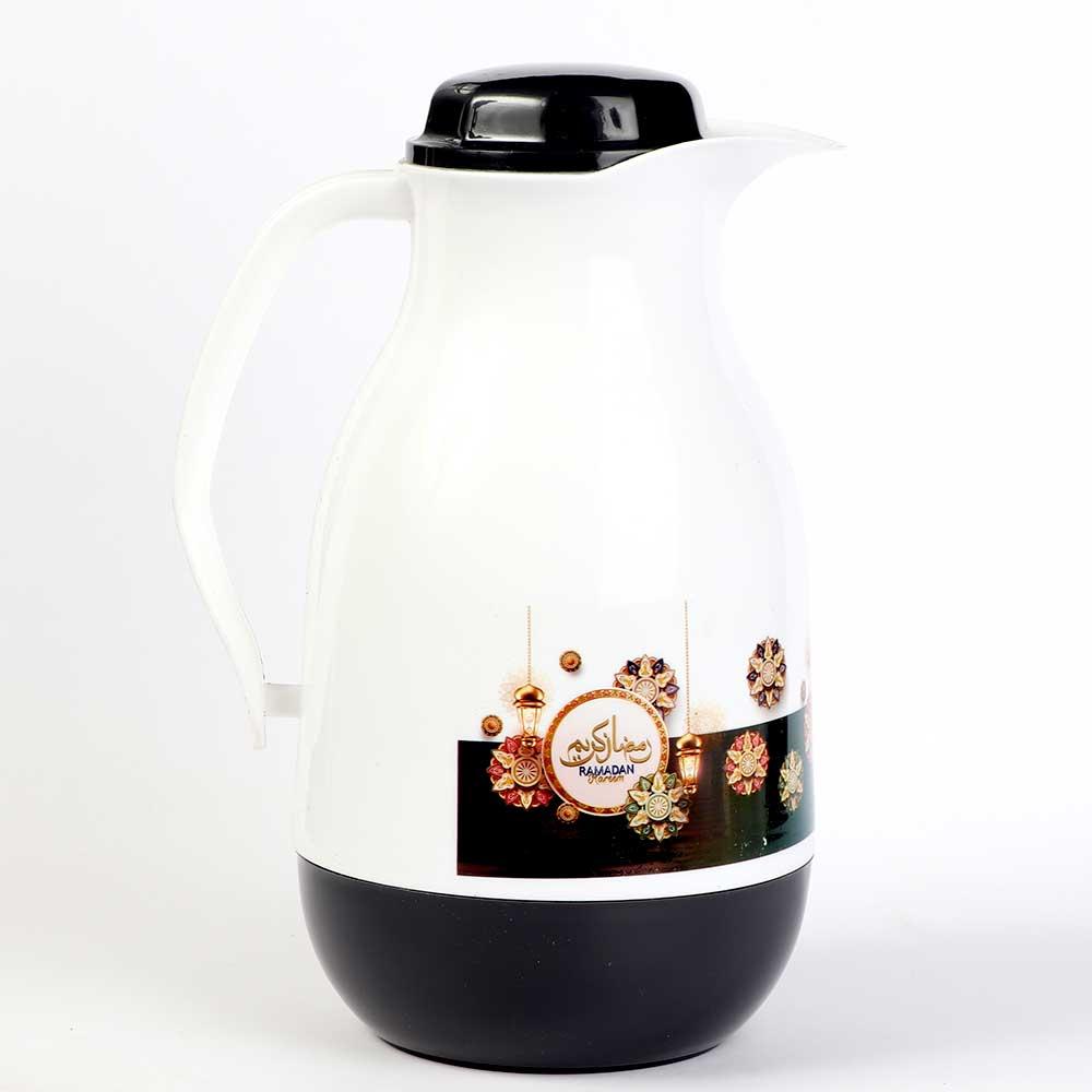 Ramadan Oval Tea and Coffee Dallah 1 liter - Black color متجر 15 وأقل