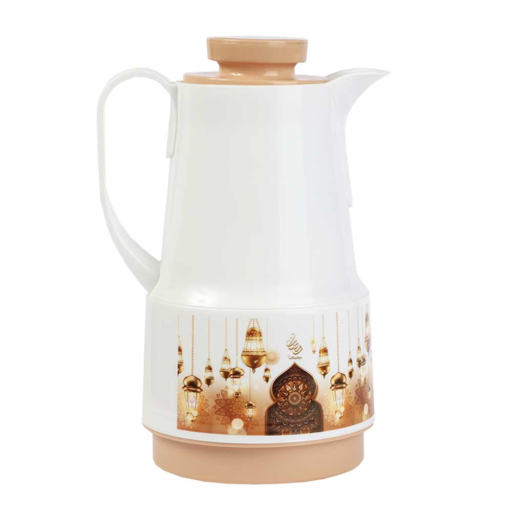 Ramadan Dallah Coffee and Tea 1 liter - Beige متجر 15 وأقل