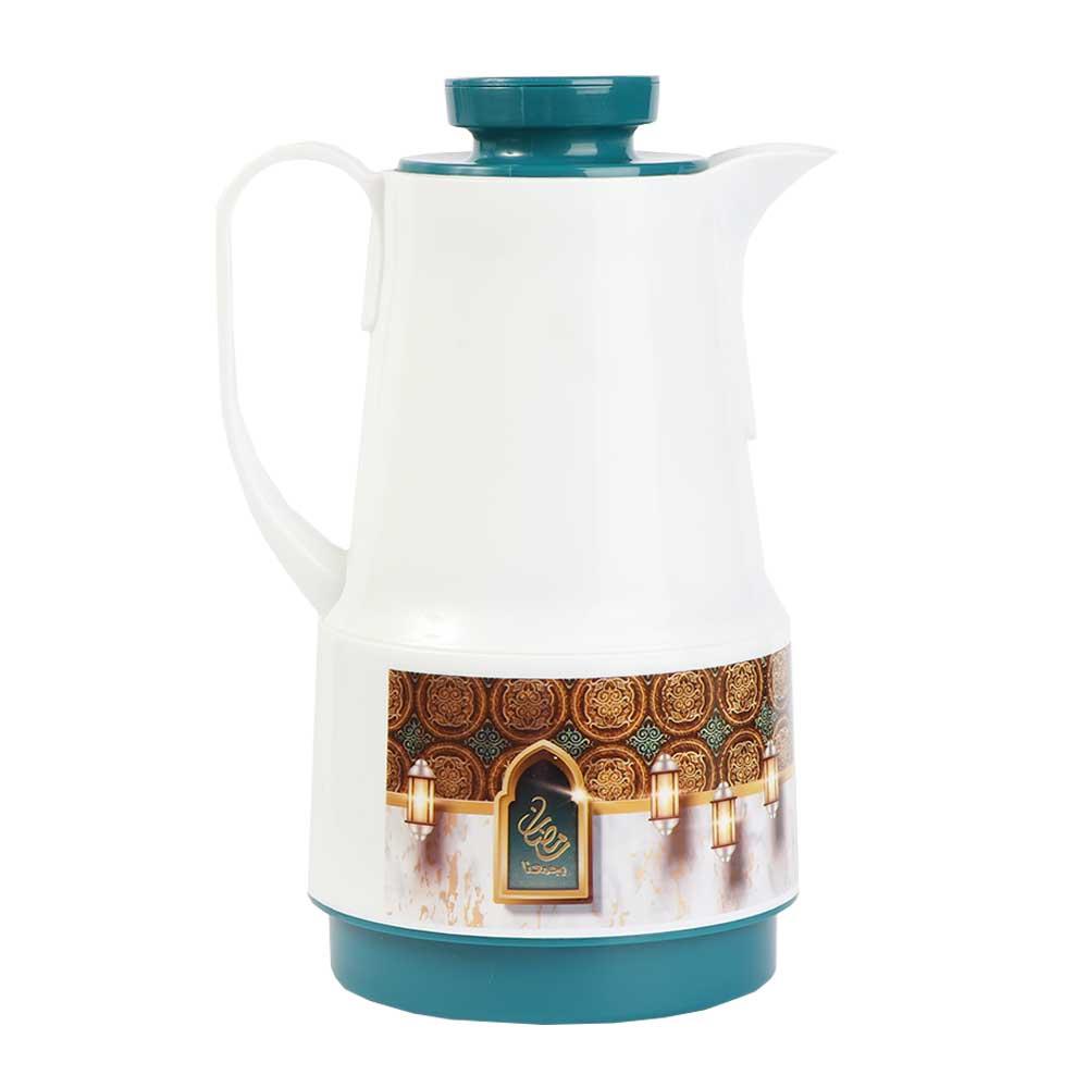 دلة شاي وقهوة رمضانية 1لتر - أخضر متجر 15 وأقل