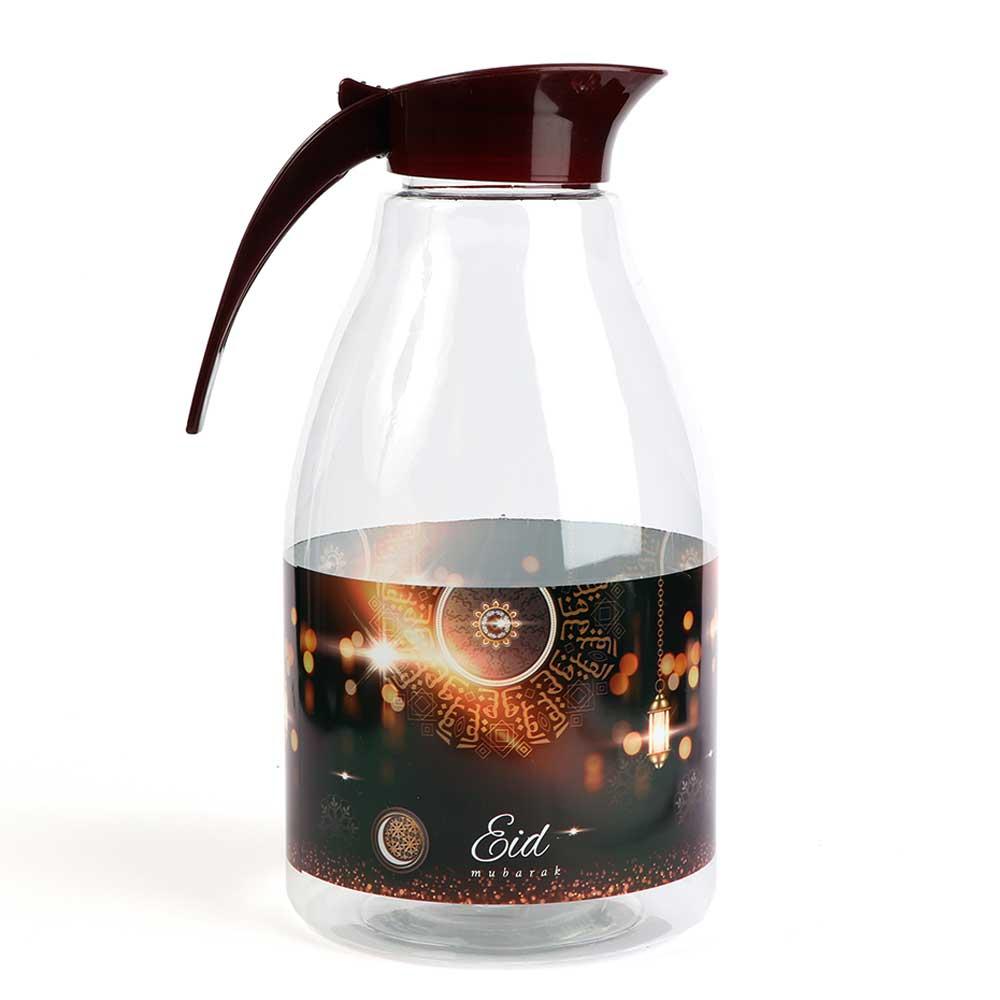 Transparent plastic jac aleid logo with brown cap 3 liter متجر 15 وأقل