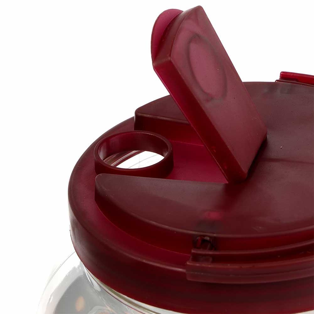 جك بلاستيك شفاف للعصائر بشعار العيد مع غطاء لون بني وكاسات وبزبوز 2 لتر متجر 15 وأقل