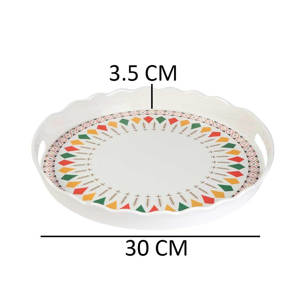 تباسي تقديم دائرية ميلامين بنقشة تراثية موديل 2 متجر 15 وأقل