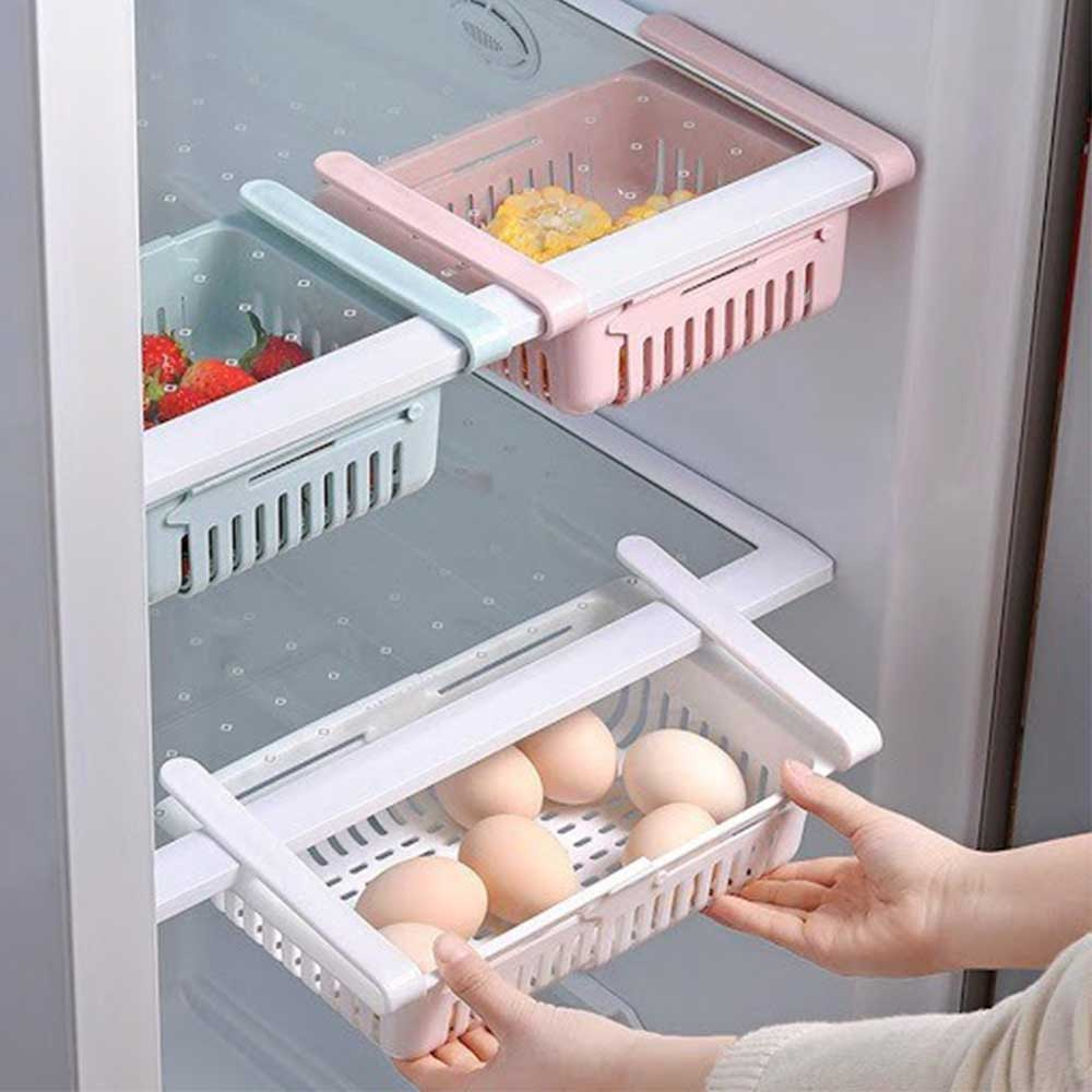 منظم تخزين للثلاجة والطاولات مرن المقاس عدد 2 قطعتين بلون وردي متجر 15 وأقل