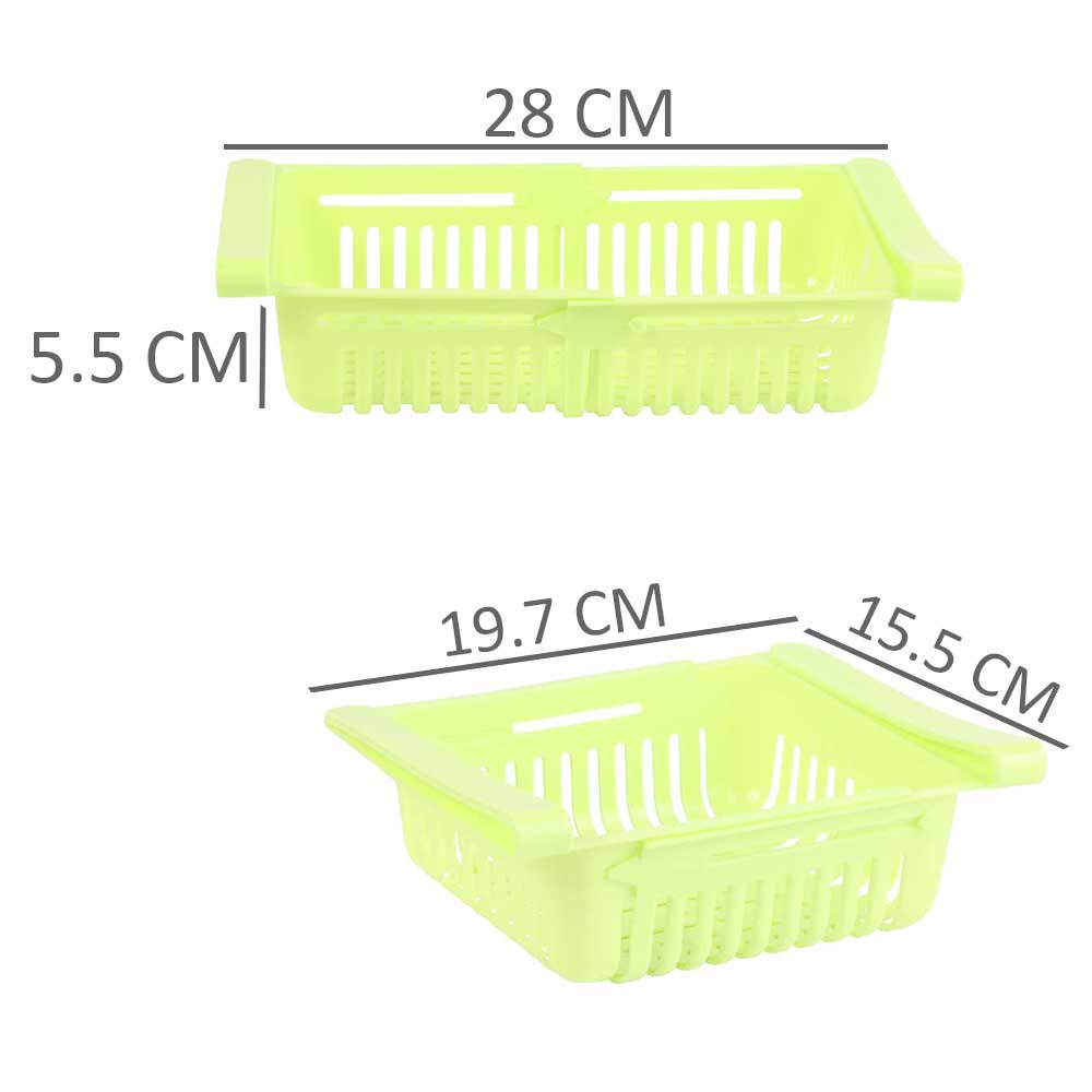 Flexible Storage Organizer for Fridge & Table 2 Pieces in Green Color متجر 15 وأقل