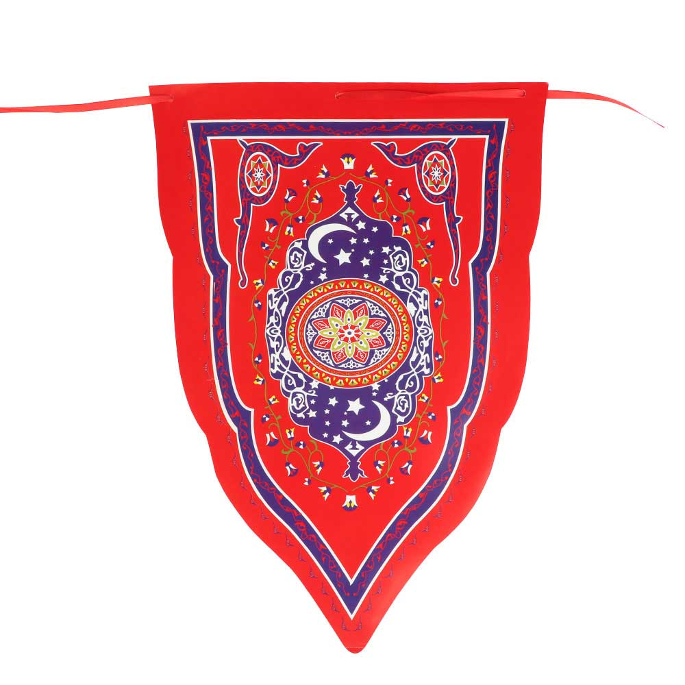 Ramadan Hanging Flags in Triangles For Decorations - Size 48 x 32 متجر 15 وأقل