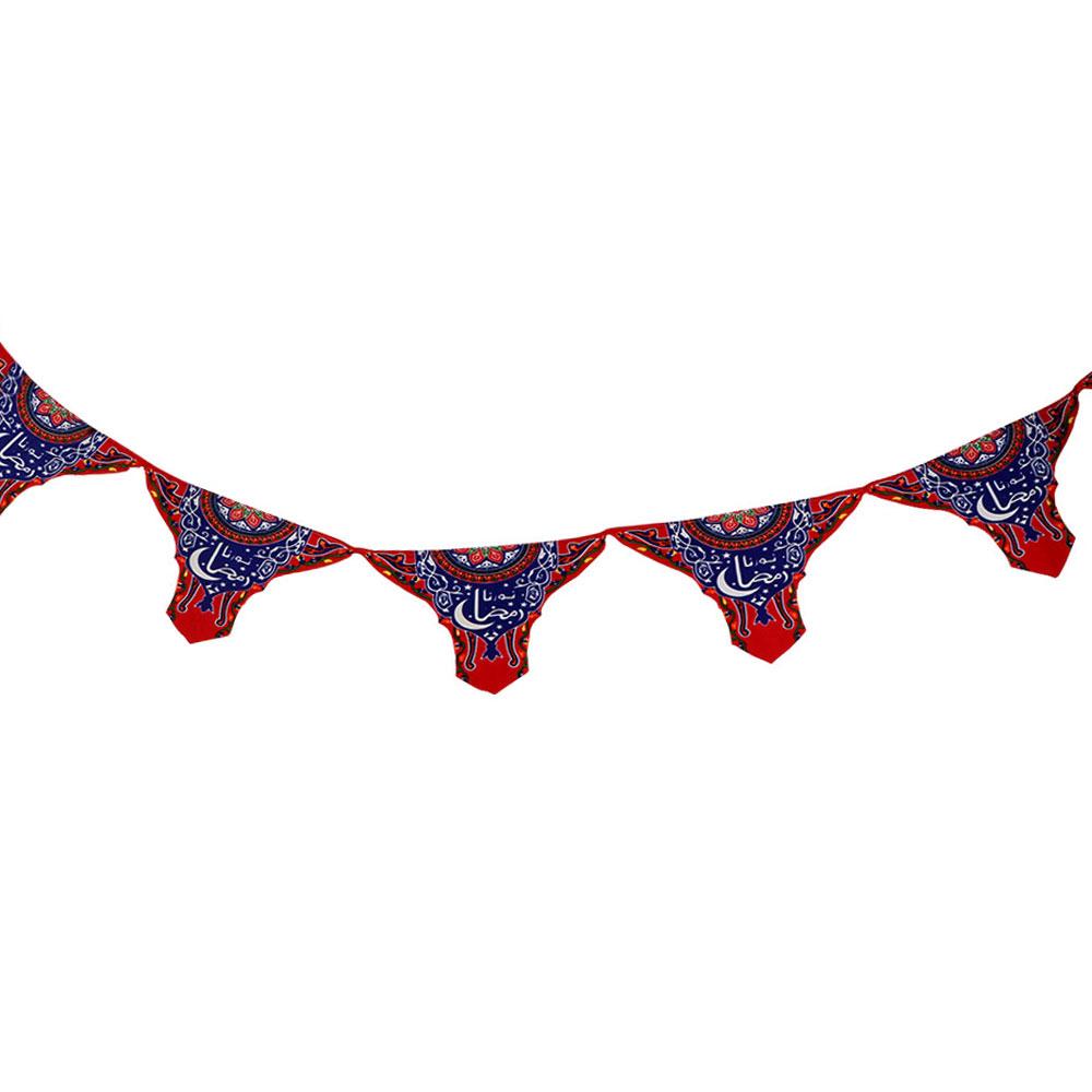 زينة تعليق مثلثات اعلام بطبعة رمضان حجم 31×20 متجر 15 وأقل