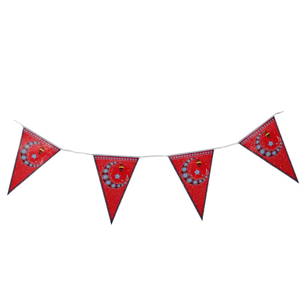 زينة تعليق مثلثات اعلام بطبعة رمضان حجم 28×20 متجر 15 وأقل