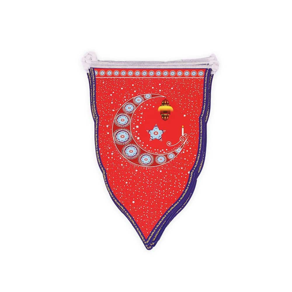 Ramadan Hanging Flags in Triangles For Decorations - Size 28x 20 متجر 15 وأقل