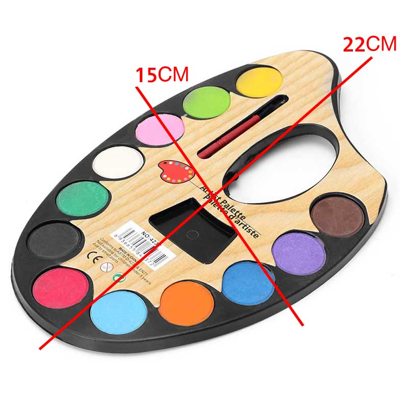 Watercolor 12 Color Palette With Brush متجر 15 وأقل