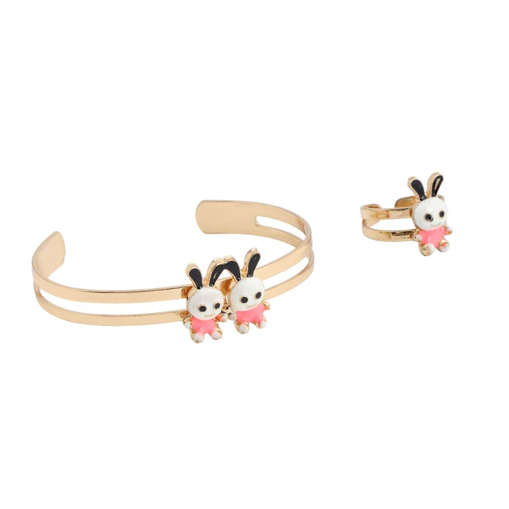 Girls' Set Of Chains - Golden And light Pink Phosphorescent متجر 15 وأقل