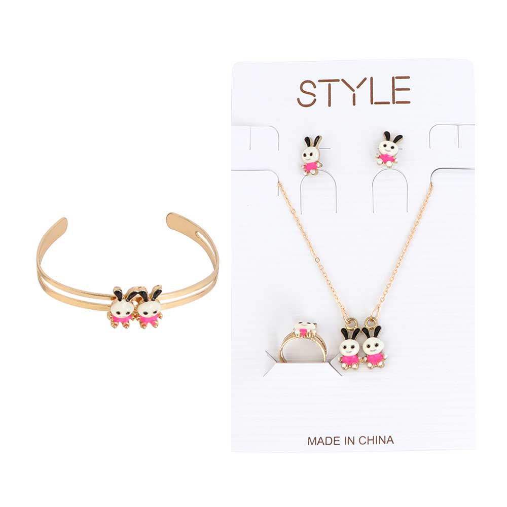 Girls' Set Of Chains - Golden And Pink Phosphorescent متجر 15 وأقل