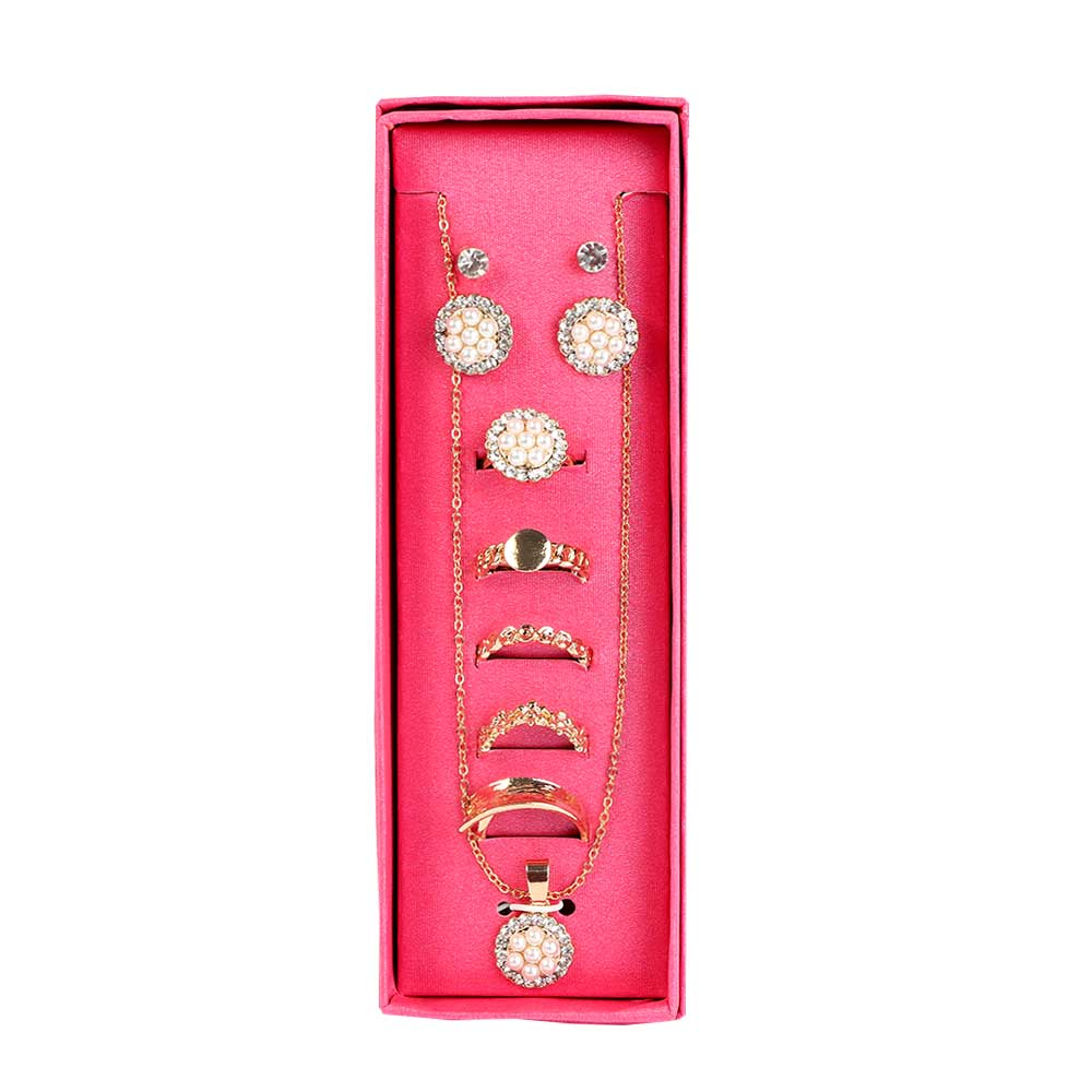 Women's Accessories Set Gold Color متجر 15 وأقل