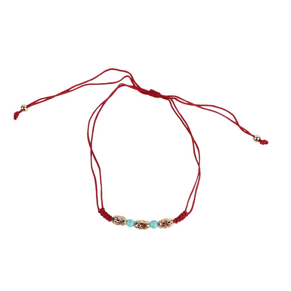 خلخال للقدم خيط - لون أحمر متجر 15 وأقل