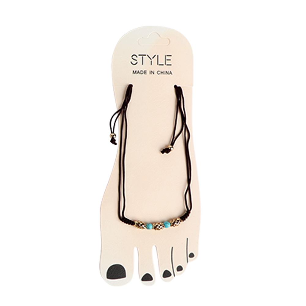 Thread Foot Anklet - Color Black متجر 15 وأقل