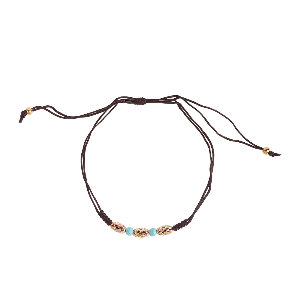 Thread Foot Anklet - Color Brown متجر 15 وأقل
