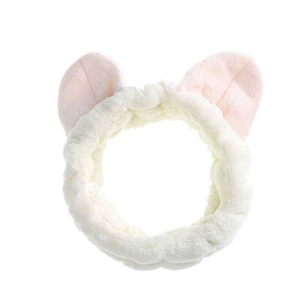Headband With Cat Ears Design - Color White متجر 15 وأقل