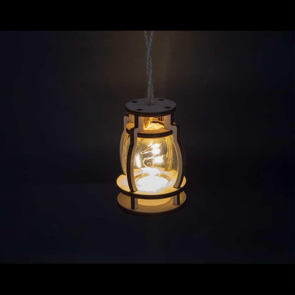 Ramadan wooden lantern circular lit in a distinctive spiral shape متجر 15 وأقل