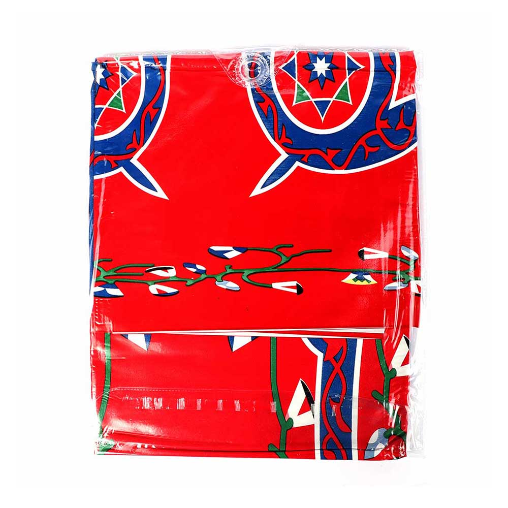 Ramadan Tablecloth - Size 140 x 1.65 cm - with a Red Background متجر 15 وأقل