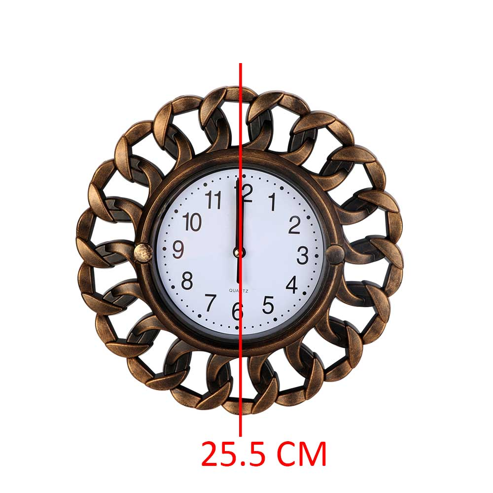 Round Analog Wall Clock Color Copper متجر 15 وأقل