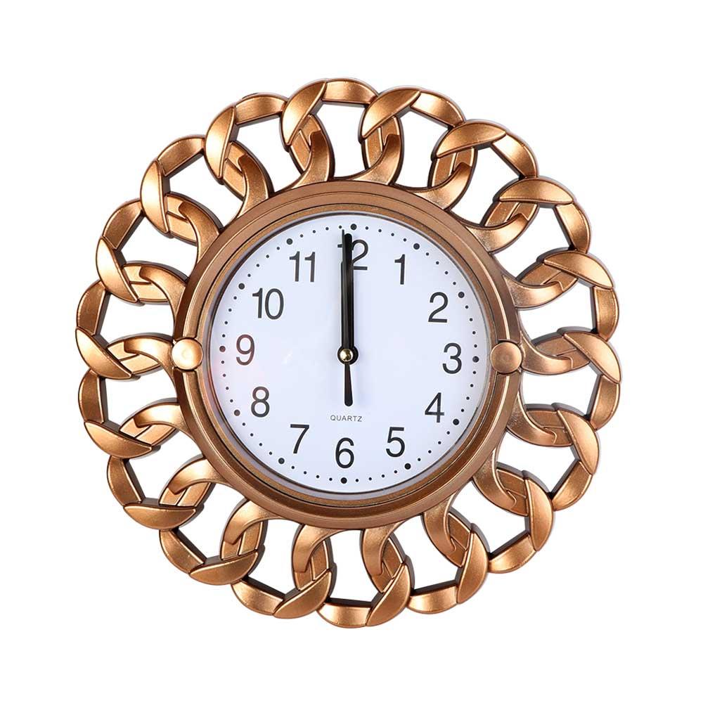 Round Analog Wall Clock Color Bronze متجر 15 وأقل