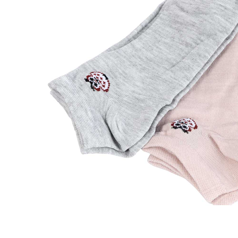 A Set Of Women's Short Socks - 4 Pieces - Plain With An Owl Pattern متجر 15 وأقل