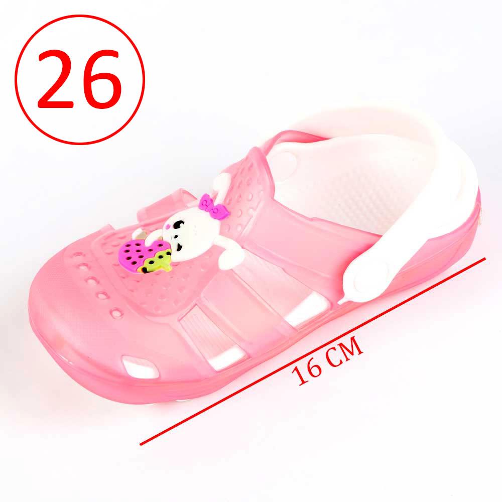حذاء كروكس للأطفال مضيئة مقاس 26 لون وردي متجر 15 وأقل