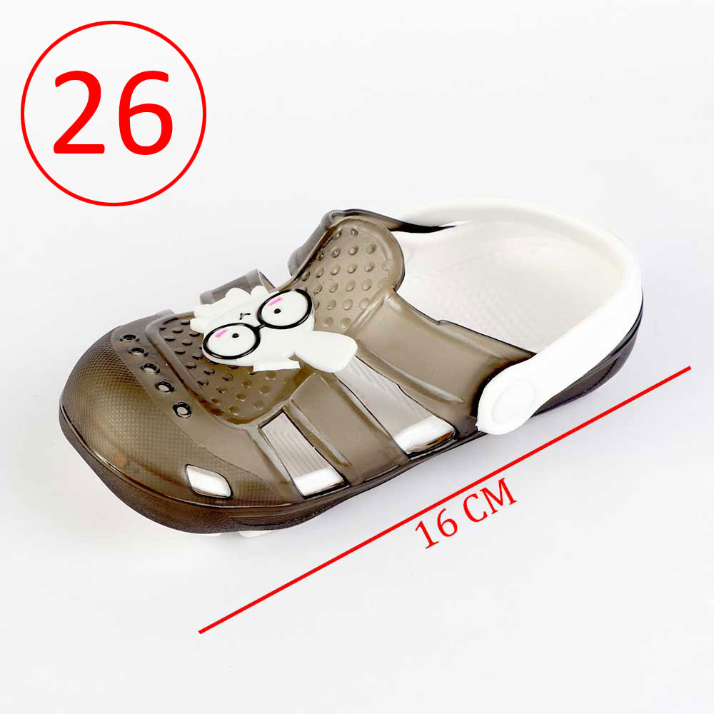 Kids Slippers that lights up Size 26 Color Black متجر 15 وأقل
