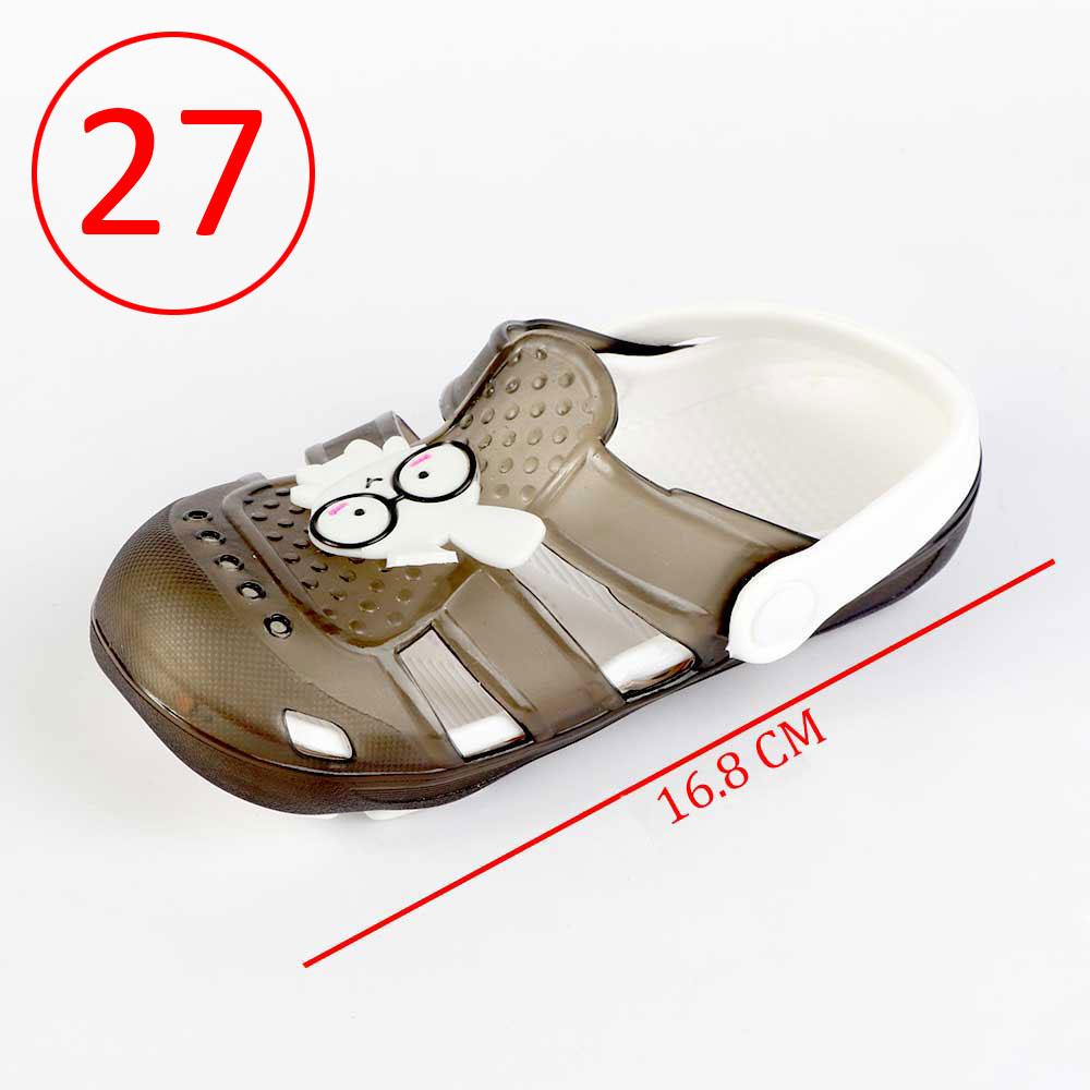 حذاء كروكس للأطفال مضيئة مقاس 27 لون أسود متجر 15 وأقل