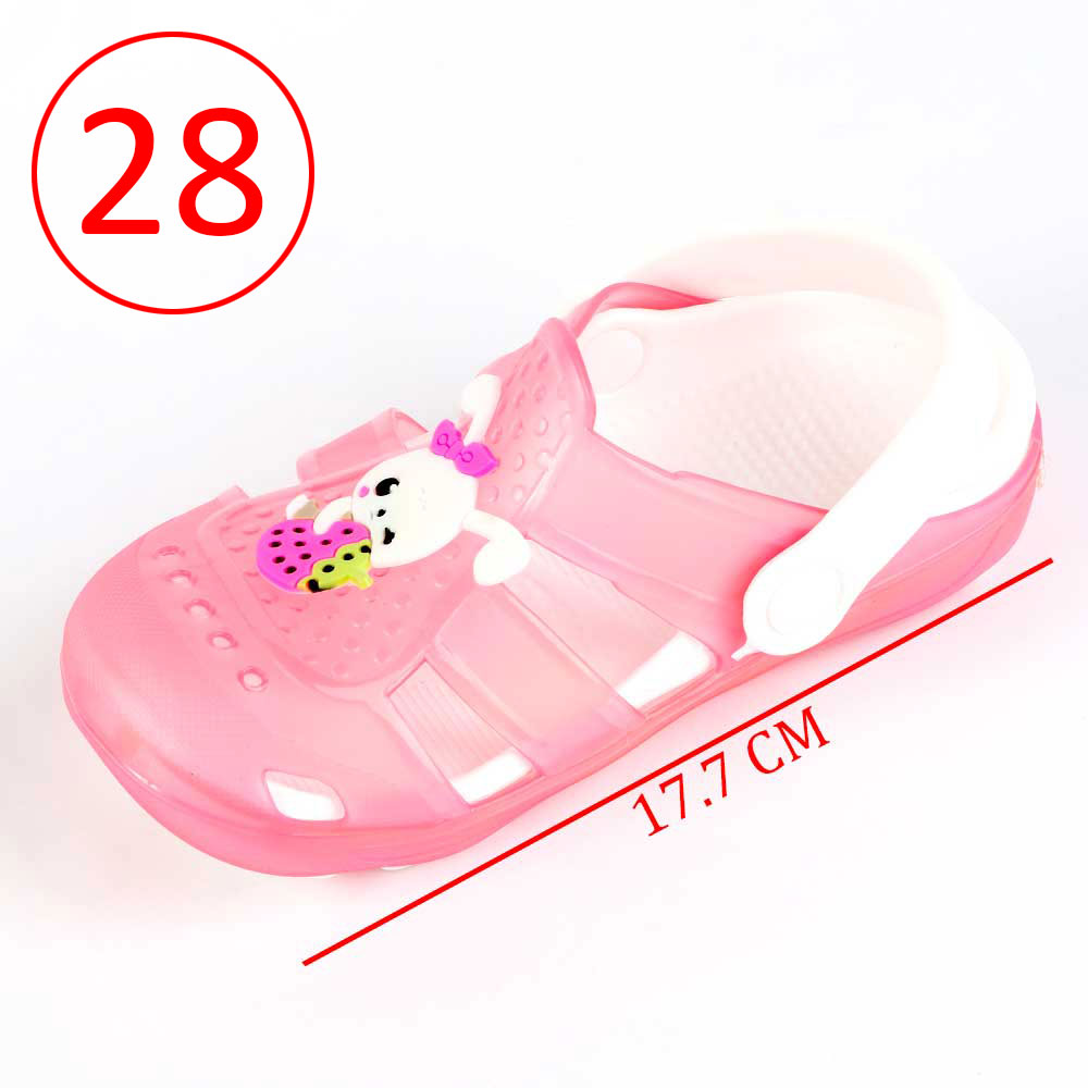 Kids Slippers that lights up Size 28 Color Pink متجر 15 وأقل