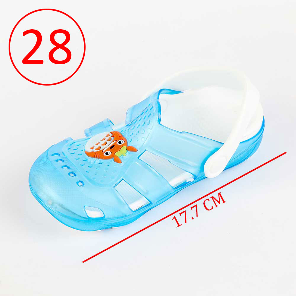 Kids Slippers that lights up Size 28 Color Blue متجر 15 وأقل