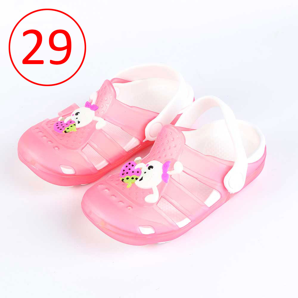 Kids Slippers that lights up Size 29 Color Pink متجر 15 وأقل