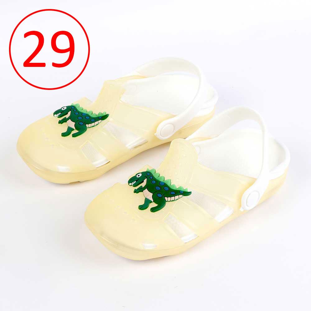 حذاء كروكس للأطفال مضيئة مقاس 29 لون أصفر متجر 15 وأقل