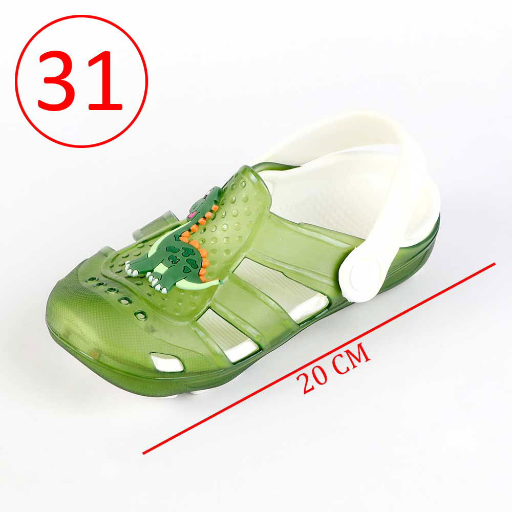 Kids Slippers that lights up Size 31 Color Green متجر 15 وأقل
