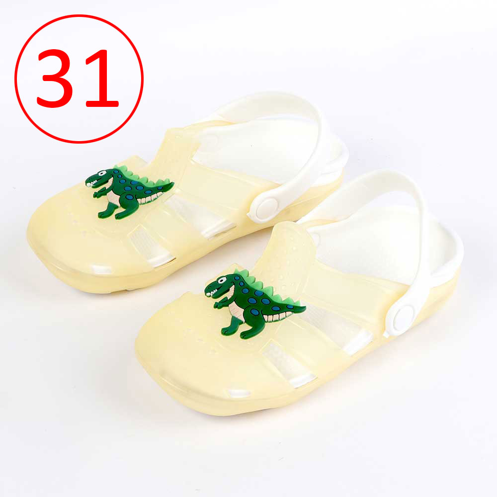 Kids Slippers that lights up Size 31 Color Yellow متجر 15 وأقل