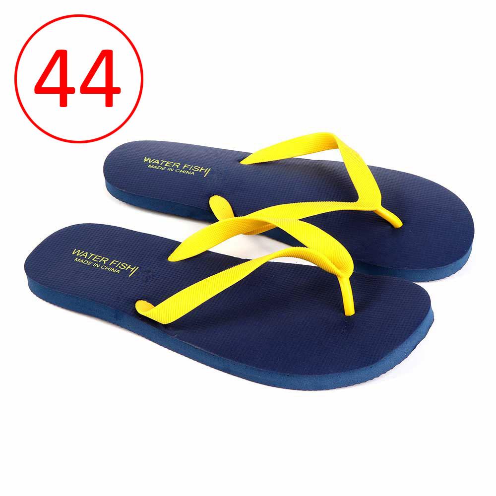 حذاء للرجال مطاط خفيف مقاس 44 لون كحلي و أصفر متجر 15 وأقل