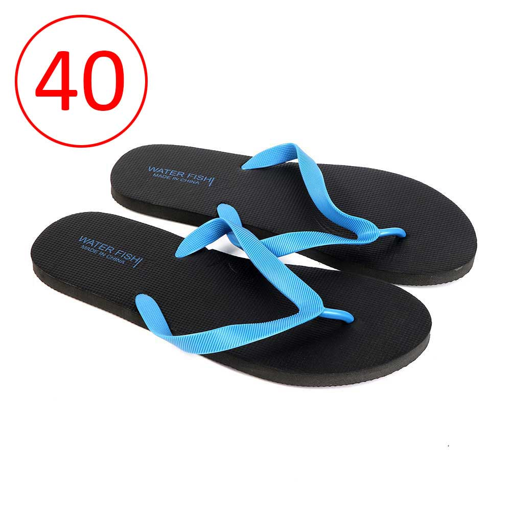 Men Rubber Slippers Size 40 Color Black and Blue متجر 15 وأقل