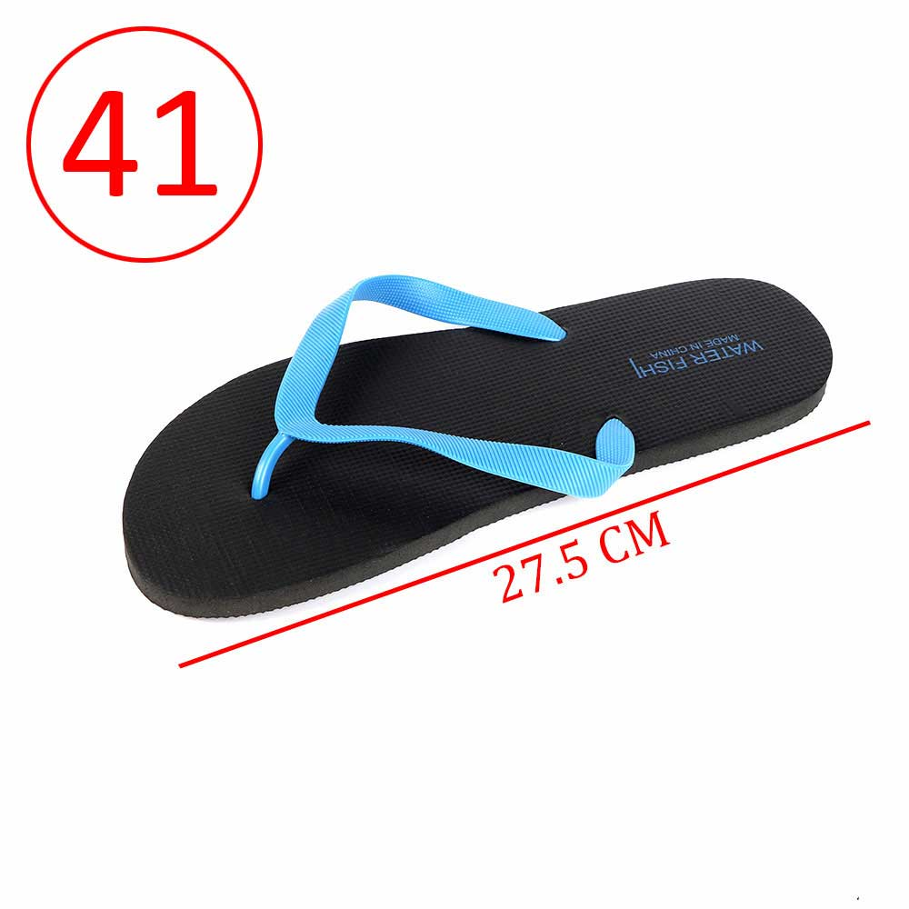 Men Rubber Slippers Size 41 Color Black and Blue متجر 15 وأقل