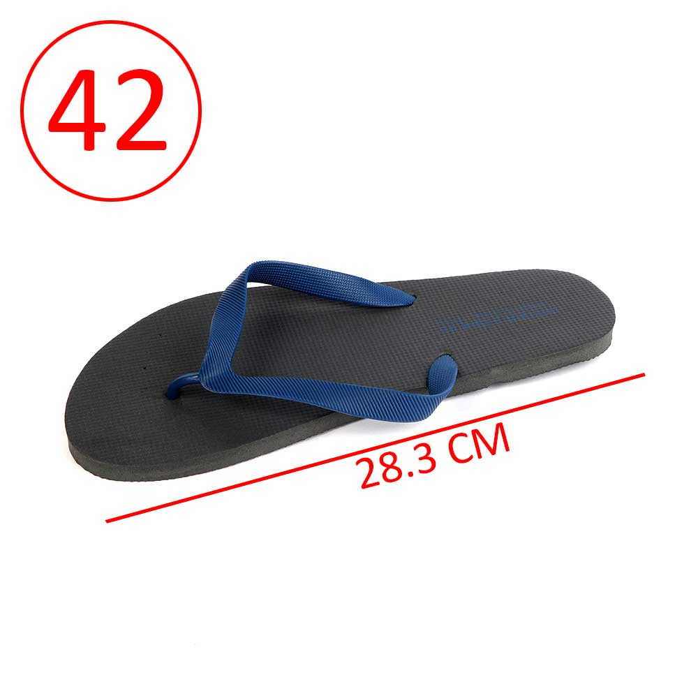 Men Rubber Slippers Size 42 Color Black and Dark Blue متجر 15 وأقل