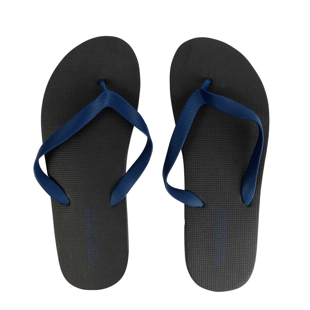 Men Rubber Slippers Size 44 Color Black and Dark Blue متجر 15 وأقل