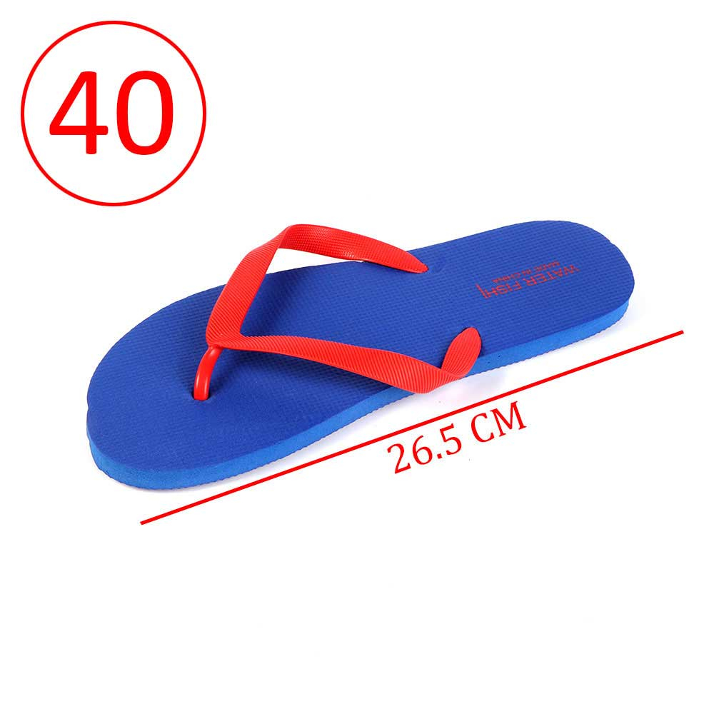 Men Rubber Slippers Size 40 Color Blue and Red متجر 15 وأقل