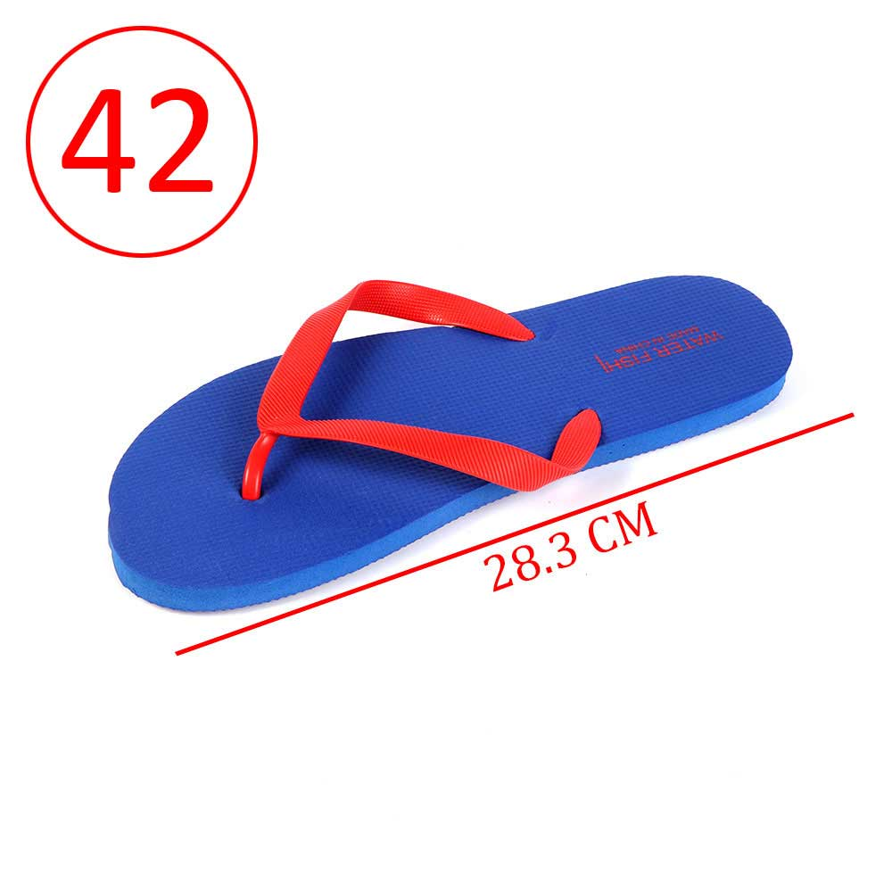 Men Rubber Slippers Size 42 Color Blue and Red متجر 15 وأقل