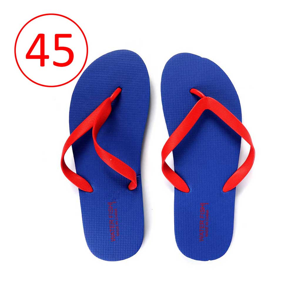 Men Rubber Slippers Size 45 Color Blue and Red متجر 15 وأقل