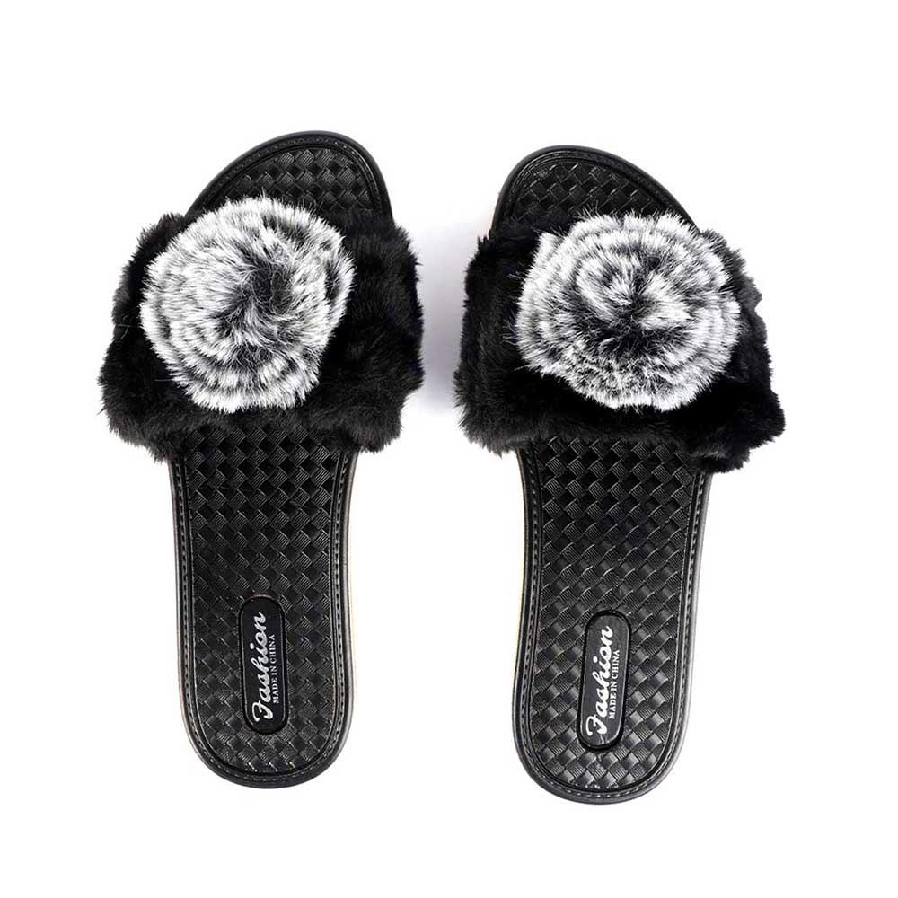 Fur Shoes For Women Size 37 Color Black متجر 15 وأقل