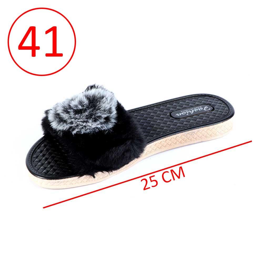 Fur Shoes For Women Size 41 Color Black متجر 15 وأقل