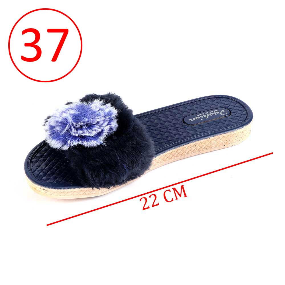 Fur Shoes For Women Size 37 Color Dark Blue متجر 15 وأقل