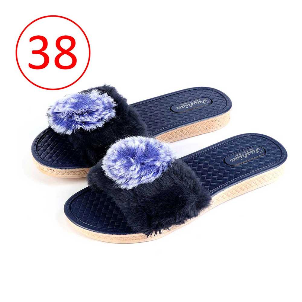 Fur Shoes For Women Size 38 Color Dark Blue متجر 15 وأقل