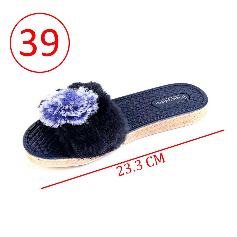 حذاء فرو للسيدات مقاس 39 لون كحلي متجر 15 وأقل