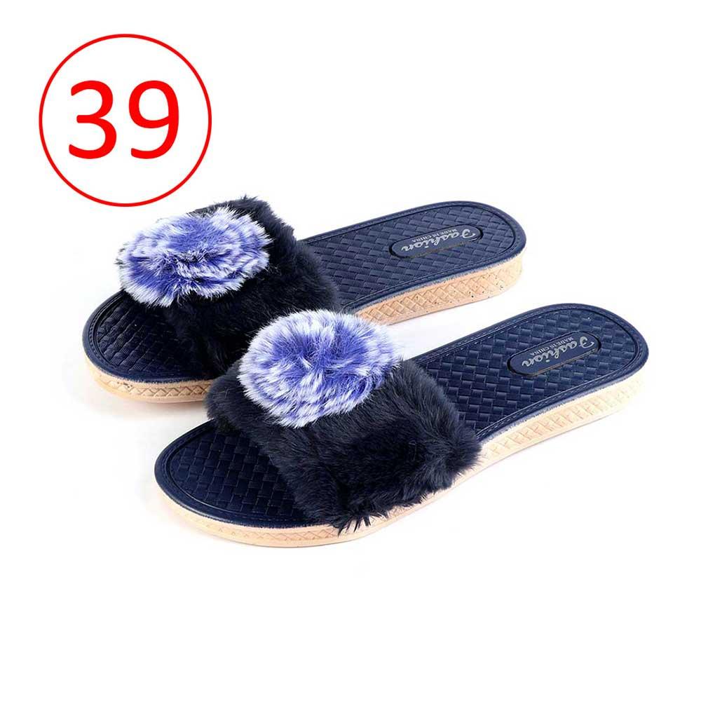 Fur Shoes For Women Size 39 Color Dark Blue متجر 15 وأقل
